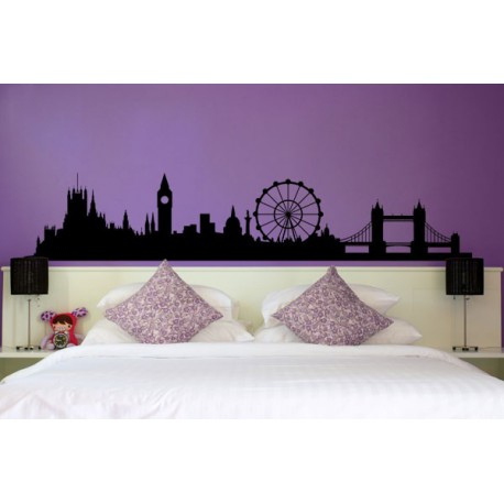 Vinilo decorativo para pared del skyline de london for Vinilos decorativos recamaras