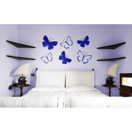 Kit vinilos de mariposas volando para pegar en pared for Vinilos decorativos dormitorio
