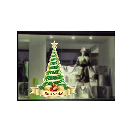 Vinilos navidad - árbol bon nadal