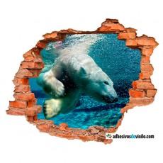 Vinilos 3d - oso polar
