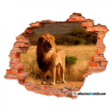 Vinilos 3d - león