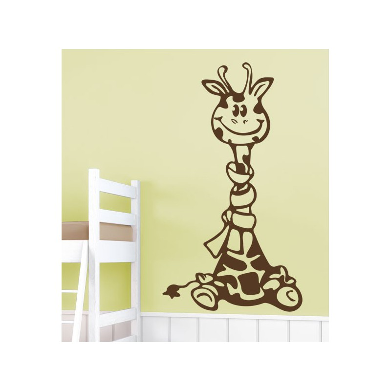 Vinilo infantil adhesivo de una simp tica jirafa feliz for Vinilos infantiles