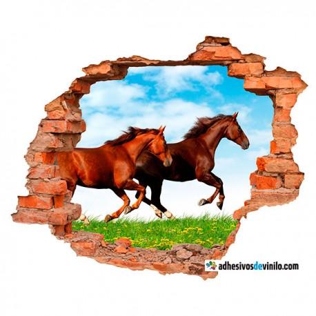 Vinilos 3d - caballos