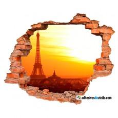Vinilos 3d - atardecer París