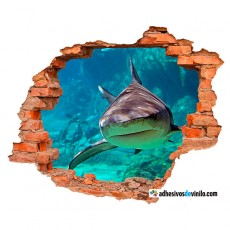 Vinilos 3d - tiburón