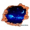 Noche con luna y estrellas