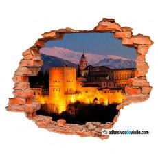 Vinilos 3d - Alhambra de noche