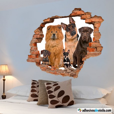 Vinilos 3d - perros