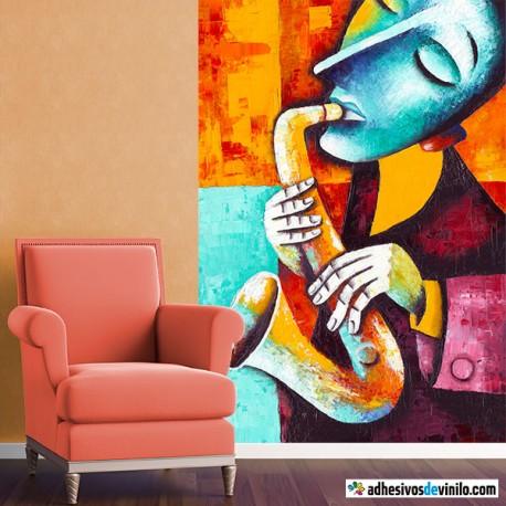 Saxofonista colorido