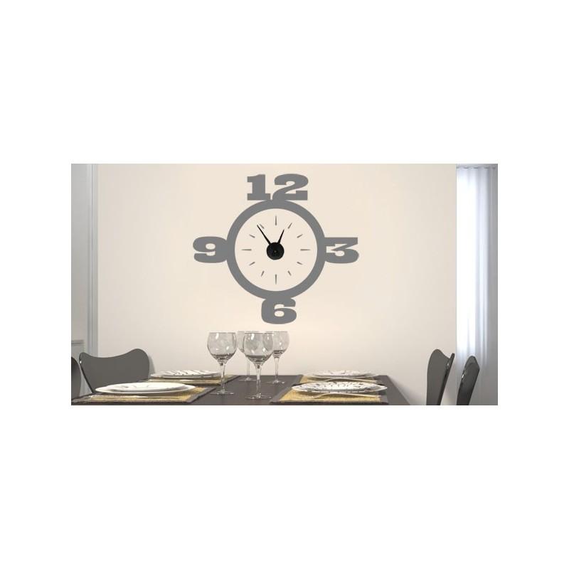 Vinilo decorativo reloj de pared con dibujo cl sico - Reloj vinilo pared ...