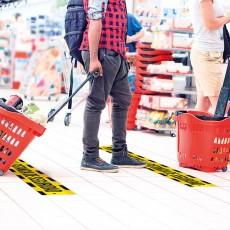 Adhesivos suelo distancia seguridad