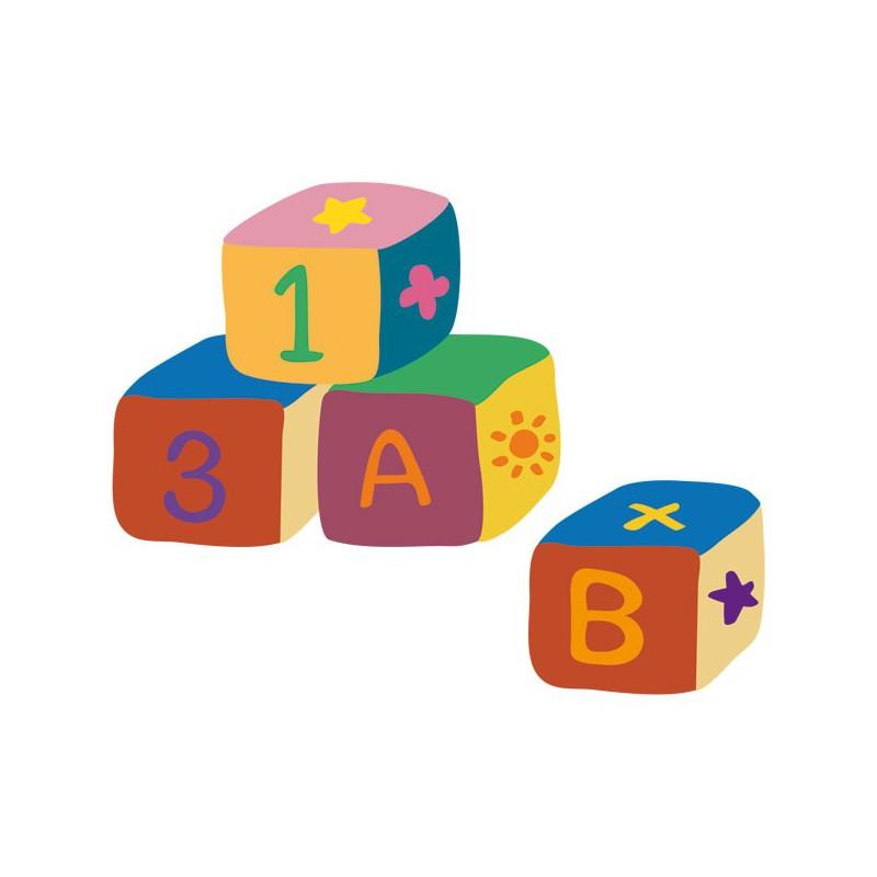 Vinilo infantil de unos dados coloridos para beb s for Vinilos para ninos bebes