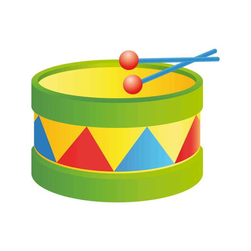 Vinilo decorativo infantil musical de tambor colorido - Dibujos de vinilo para paredes ...