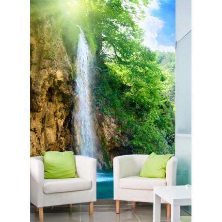 Fotomural con la imagen de una cascada refrescante - Fotomurales adhesivos pared ...