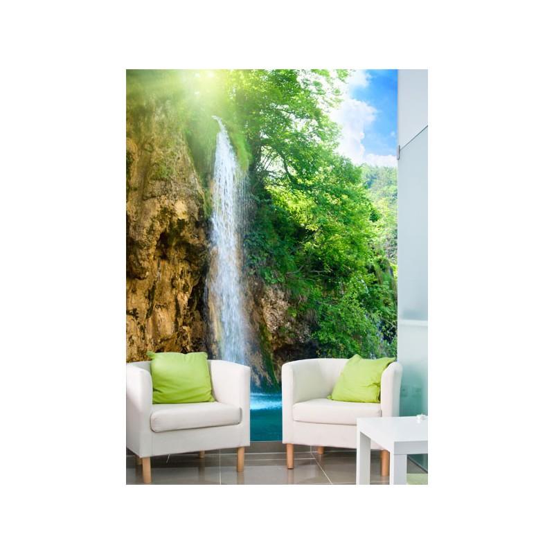 Fotomural con la imagen de una cascada refrescante for Murales decorativos paisajes
