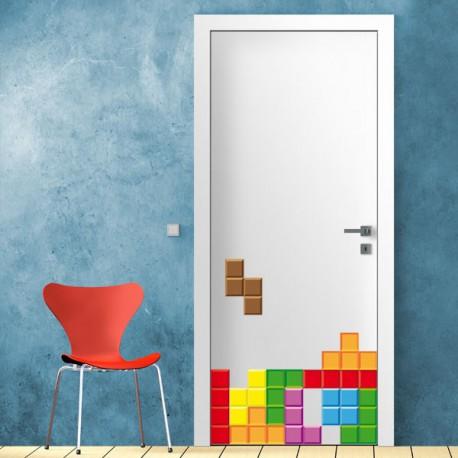 Vinilo decorativo juvenil y original del juego tetris - Vinilos decorativos juveniles ...