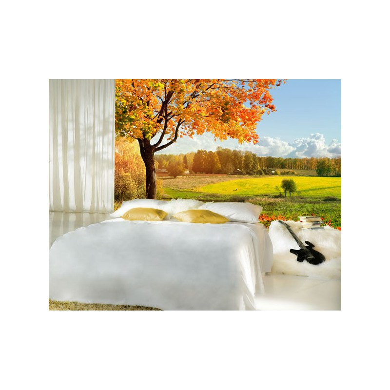 Fotomural pared de un bonito paisaje en tonos c lidos for Vinilos pared paisajes