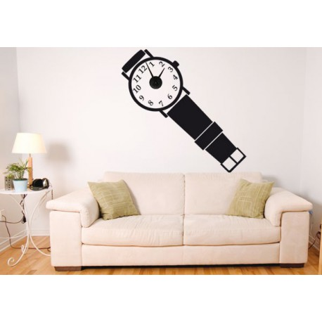 Vinilo decorativo reloj de pulsera incluye mecanismo - Reloj vinilo decorativo ...
