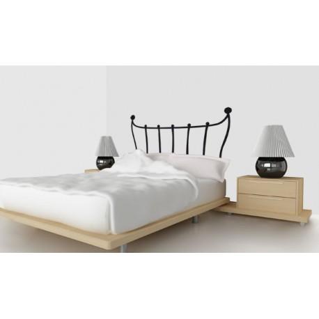 Vinilo decorativo de cabecero de cama con barrotes for Vinilo cabecero cama