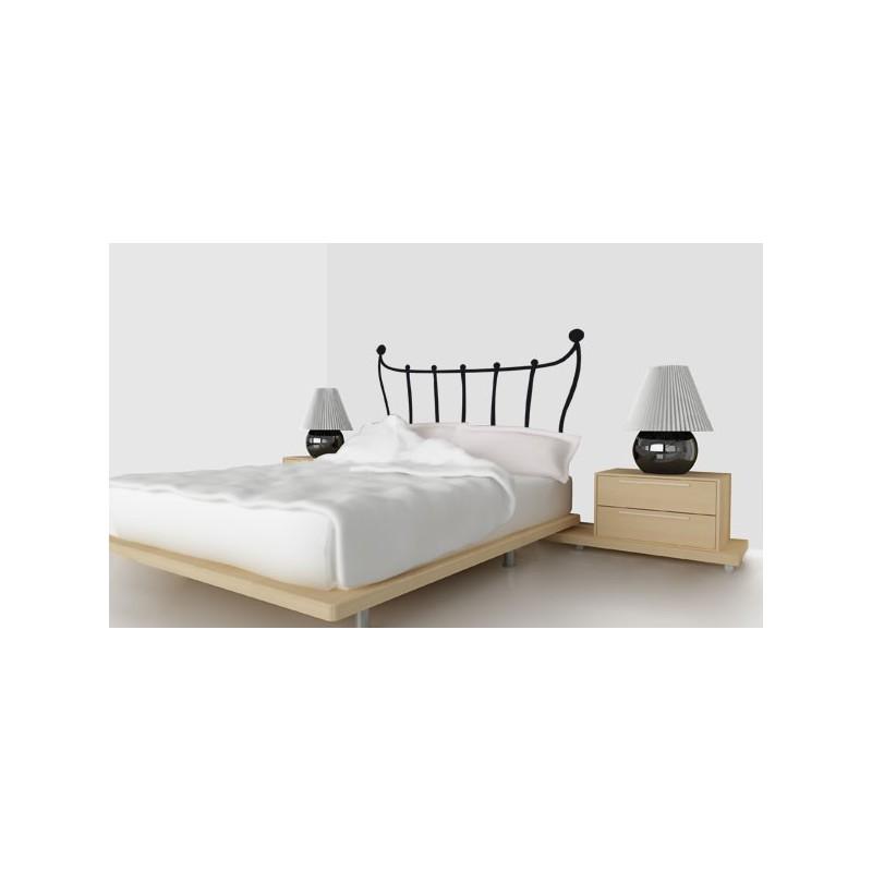 vinilo decorativo de cabecero de cama con barrotes