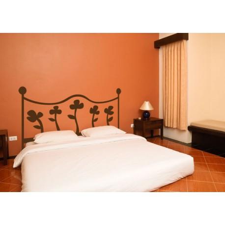 Cabecero de cama floral