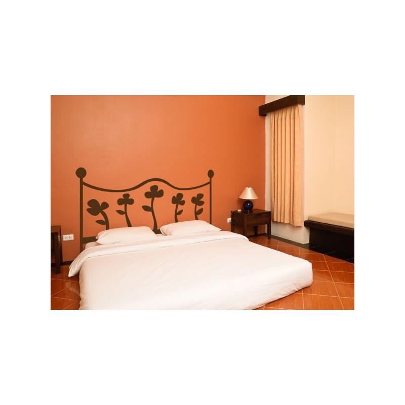 Cabecero de cama de vinilo adhesivo con cinco flores for Cabeceros de cama originales