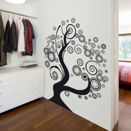Vinilo decorativo original un rbol pop para pared Cubiertos decorativos para pared