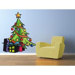 Árbol de navidad con regalos