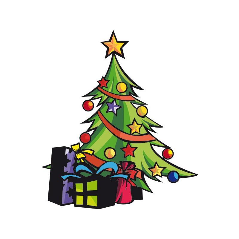 Vinilos decorativos adhesivos de rboles de navidad - Arbol de navidad con regalos ...