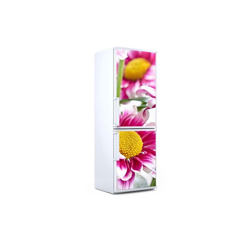 Vinilo para neveras de unas bonitas flores moradas for Vinilos para neveras