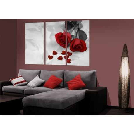 murales partidos - rosa roja