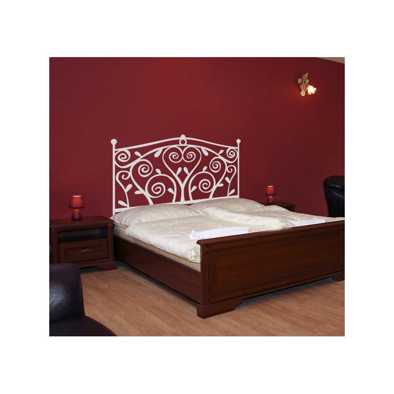 Vinilo de cabecero de una cama con forma ornamental - Vinilos de cabeceros ...