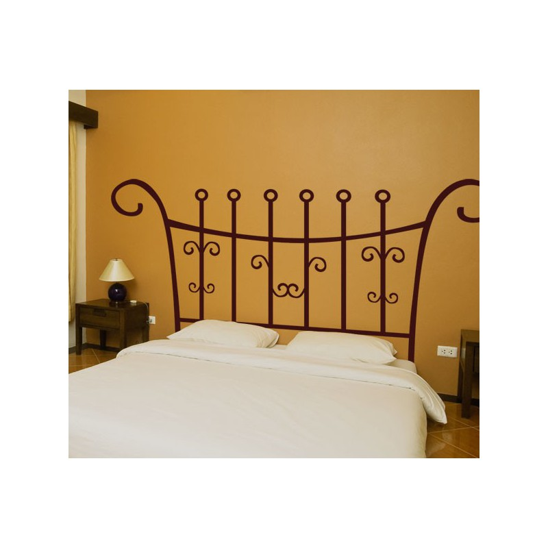 Vinilo decorativo de un cabecero para la cama barroco - Vinilo cabecero cama ...