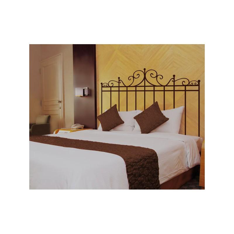 Vinilo decorativo de un cabecero para cama cl sico for Cabeceros de cama zaragoza