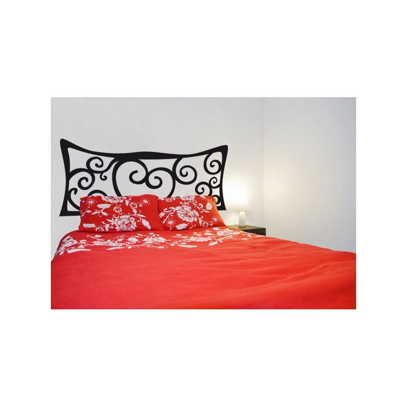 Cabecero de vinilo para la cama rom ntico y original - Cabecero cama original ...