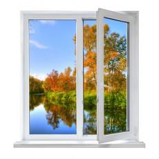 fotomural ventana río