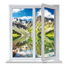 vinilos ventanas - montañas