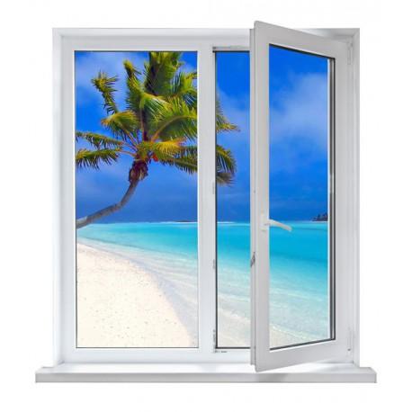 vinilos ventanas - playa