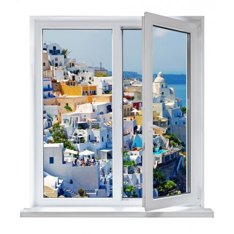 vinilos ventanas - casitas
