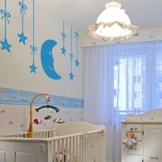 vinilos bebés - luna y estrellas