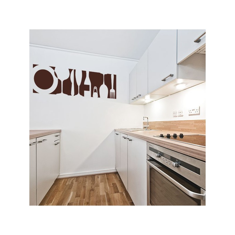 Vinilo para colocar en la cocina de utensilios variados - Cocinas con vinilo ...