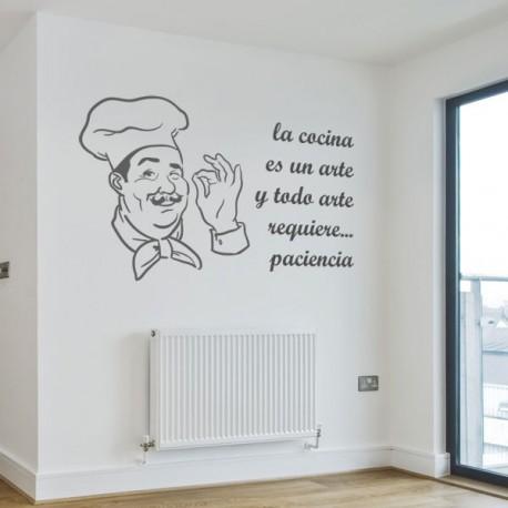 Vinilo de cocina con la frase la cocina es un arte - Vinilos cocina originales ...