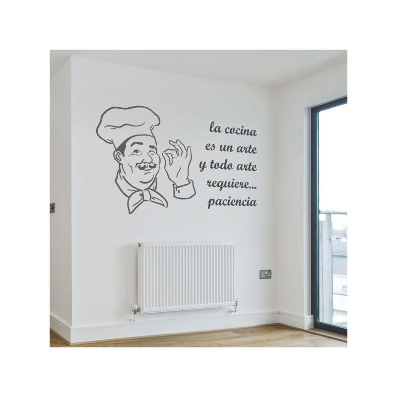 Vinilo de cocina con la frase la cocina es un arte - Suelos de vinilo para cocinas ...
