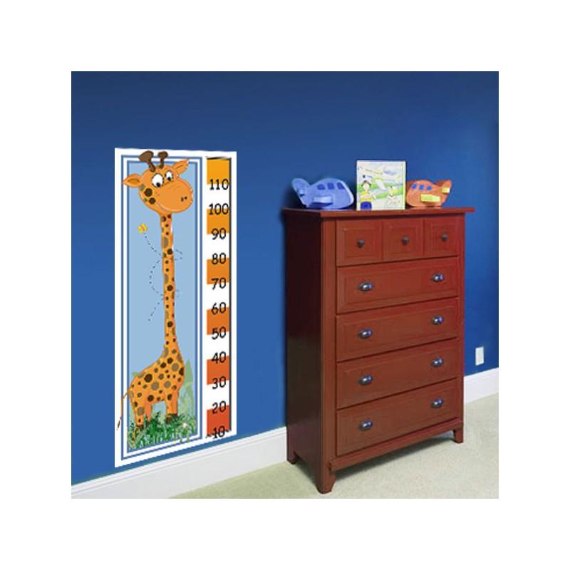 Vinilo medidor con el dibujo de una jirafa para ni o - Medidor de habitaciones ...