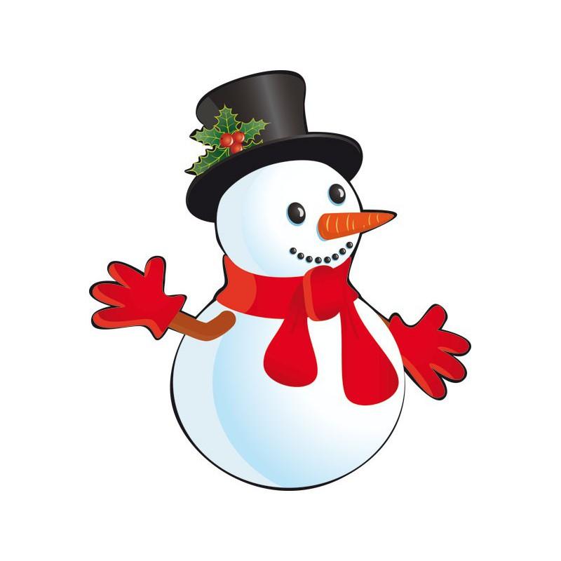 Vinilo de navidad para escaparate de mu eco de nieve - Dibujos decorativos de navidad ...