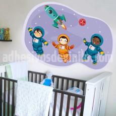 tres astronautas
