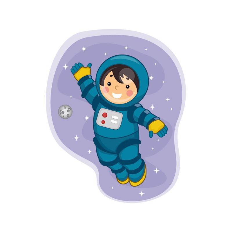 Vinilo infantil del simp tico astronauta en el espacio - Dibujos infantiles del espacio ...
